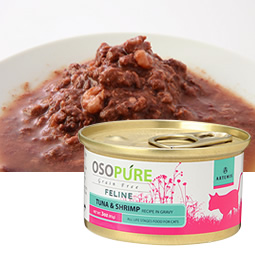 オソピュアグレインフリー ツナ&シュリンプ缶 (猫用)製品イメージ