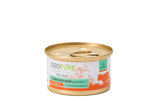 ARTEMIS アーテミス オソピュアグレインフリー  ツナ&サーモン缶 (猫用)製品イメージ